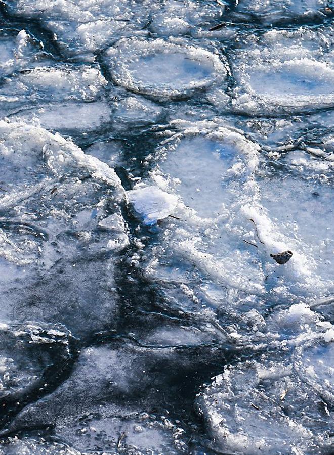 얼어붙은 한강,